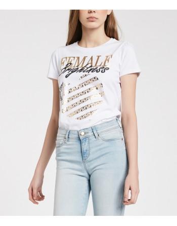 T-shirt con stampa laminata...