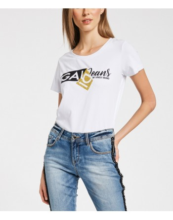 T-shirt con lettering...